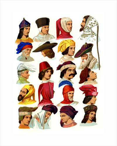 Men's hats of different classes of society by Thurwanger Freres