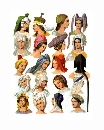 Women's hats of different classes of society by Thurwanger Freres