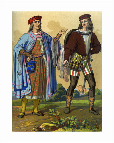An English courtier of 1450 and an English gentleman of 1500 by Edward May