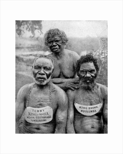 Three Aborigines from the coast tribes above Brisbane, Australia by Anonymous