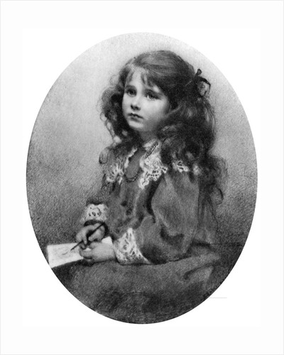 The Queen Mother as a child by Mabel Emily Hankey