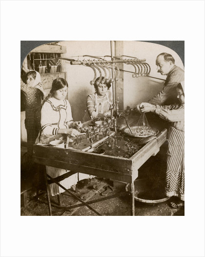 Manufacturing silk, Syria by Underwood & Underwood