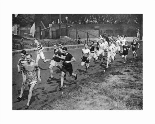 Running the half mile at the Civil Service Sports day, Stamford Bridge, London by Anonymous