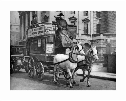 A horse-drawn bus, London by Anonymous