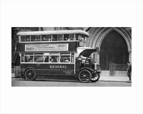 A double-decker bus standing outside the Law Courts, London by Anonymous