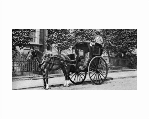 A horse-drawn hansom cab, London by Anonymous