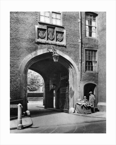 A Tudor gateway leading to Lincoln's Inn from Chancery Lane by McLeish