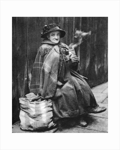 Old woman, back of Fleet Street, London by Hoppe