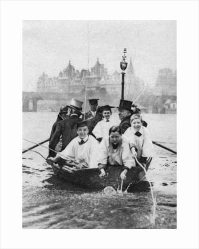Choirboys of St Clement Danes beating the boundary-marks on the Thames, London by Anonymous