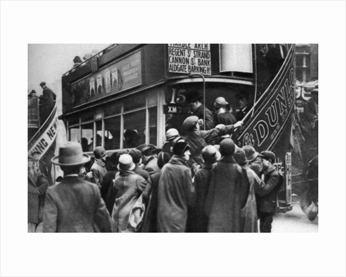 Getting on a bus in Ludgate Hill, London by Anonymous