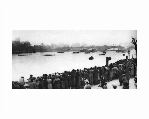 Start of the Oxford and Cambridge Boat Race, London by Anonymous