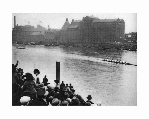 Finish of the Oxford and Cambridge Boat Race, London by Anonymous