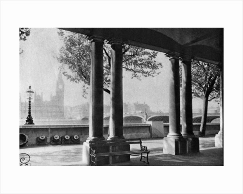 Westminster Bridge and Big Ben from the terrace of St Thomas's Hospital by Anonymous