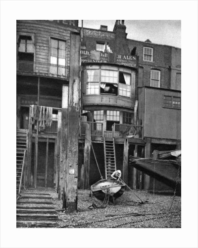 Old pub on the River Thames, London by Anonymous