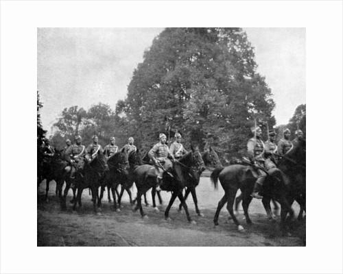 Danish Hussars at Bernsdorff by Queen Alexandra