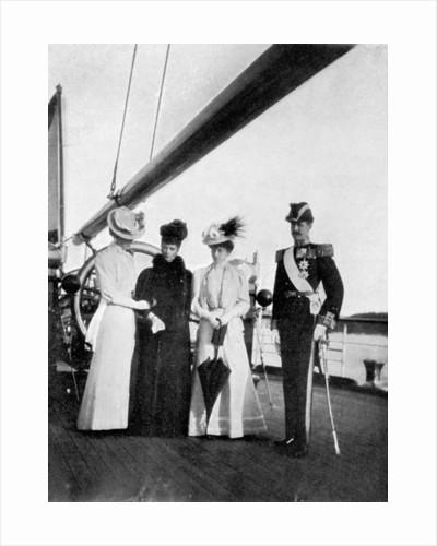 Empress Maria Feodorovna, Princess Victoria, Queen Maud and King Haakon VII of Norway by Queen Alexandra