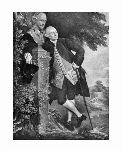 David Garrick (1717-1779), English actor, playwright, theatre manager and producer by Anonymous