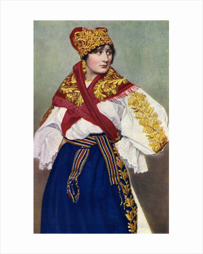 Peasant woman in national dress, Czechoslovakia by Anonymous