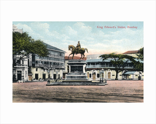 'King Edward's Statue, Bombay', India by Anonymous