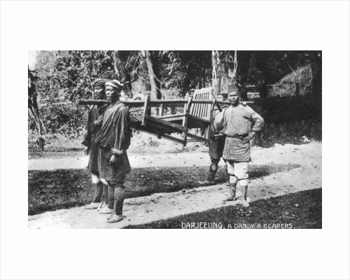 'Dandy and Bearers, Darjeeling', India by Anonymous