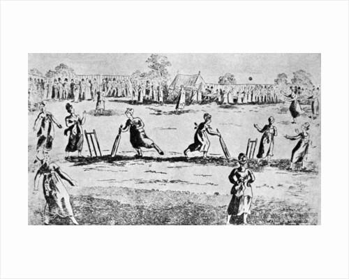 A ladies' cricket match, Newington Green, Islington, London by Anonymous