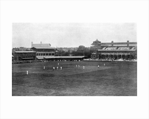 A cricket match in progress at Lord's cricket ground, London by Anonymous