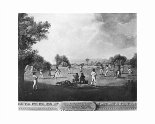 A cricket match by George Morland