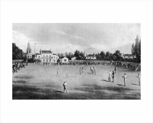 A cricket match in progress at Kennington Oval, London by Anonymous