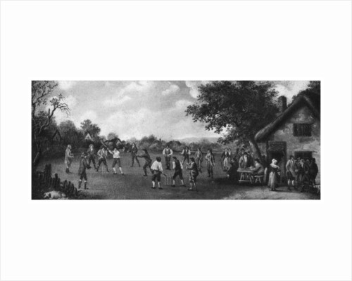 A country cricket match by Henry Dixon