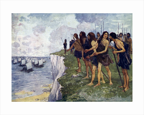 Britons awaiting the imminent arrival of viking ships by Anonymous
