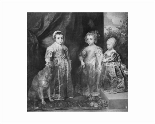 The three sons of Charles I, King of England by Anthony van Dyck