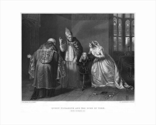 Queen Elizabeth and the Duke of York (King Richard III) by H Robinson