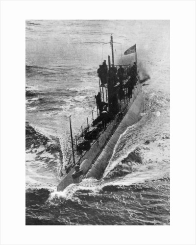 American submarine 'Preparedness' at full speed, First World War by Anonymous