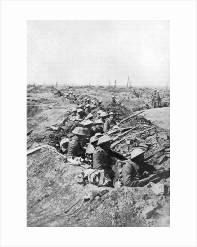 British troops on the Somme Heights, France, First World War by Anonymous
