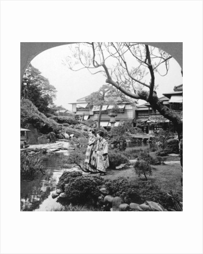 Japanese maids in a garden by BL Singley