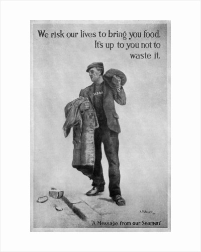 'We risk our lives...', First World War poster by James Prinsep Beadle