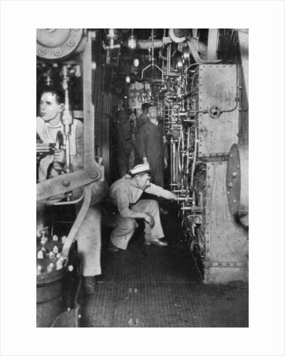 A warship's boiler room, First World War by Anonymous