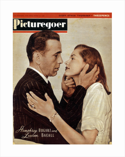 Humphrey Bogart (1899-1957) and Lauren Bacall (b1924), American actors by Anonymous