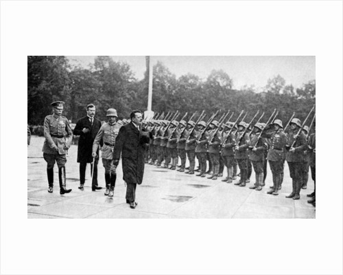 Friedrich Ebert (1871-1925) inspecting the troops, Germany by Anonymous