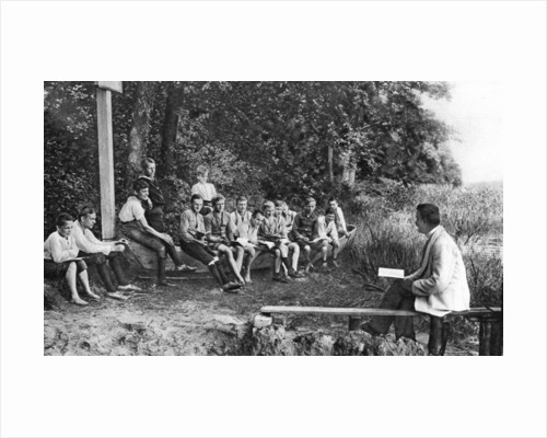 Boys studying nature, Germany by Anonymous