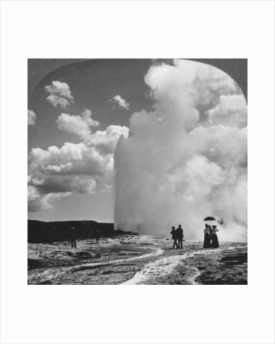 Old Faithful geyser, Yellowstone National Park, USA by Underwood & Underwood