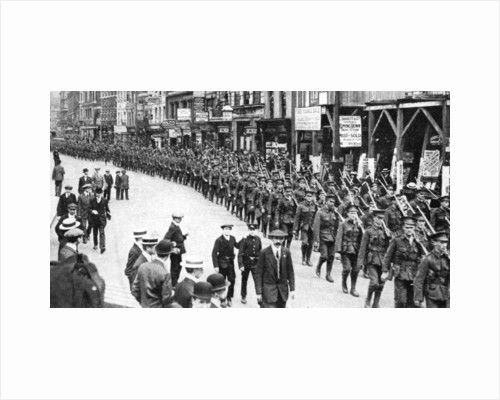 The Citizen Army of Territorials, Strand, London, First World War by Anonymous