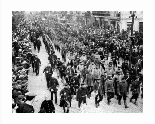 German troops as prisoners in Antwerp, Belgium, First World War by Anonymous