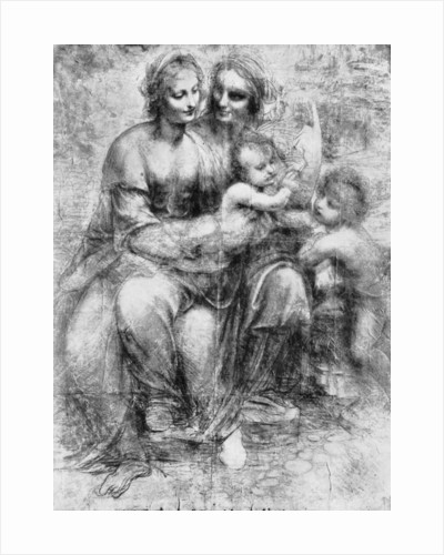 Cartoon of St Anne with Madonna and Child and St John by Leonardo Da Vinci
