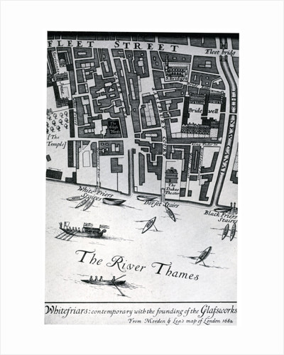 Map of London featuring Whitefriars by Morden & Lea