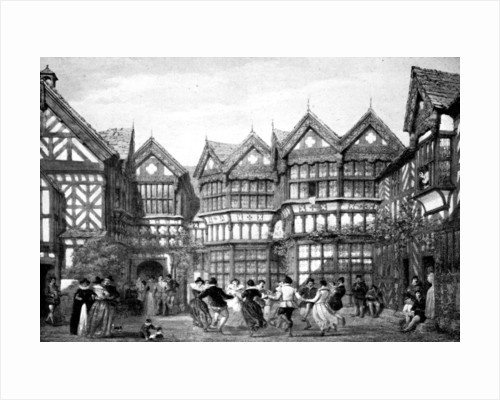 16th Century timberwork at Little Moreton by Joseph Nash