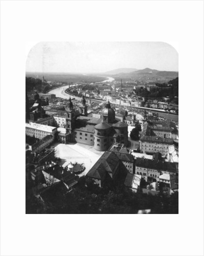 View of Salzburg from the Hohensalzburg Fortress, Salzburg, Austria by Wurthle & Sons