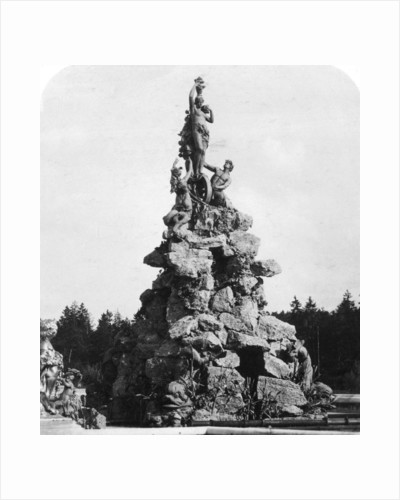 The fountain at Herrenchiemsee Palace, Bavaria, Germany by Wurthle & Sons