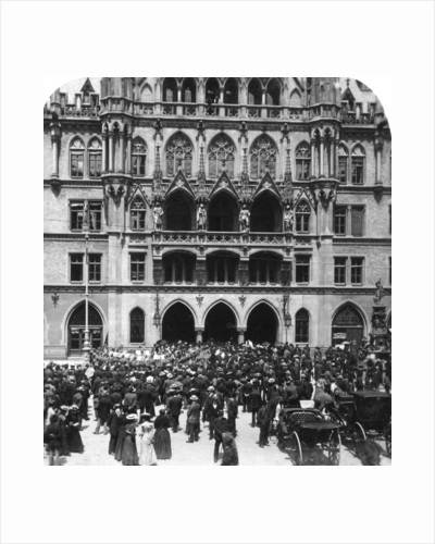 An outdoor concert at the Town Hall, Munich, Germany by Wurthle & Sons