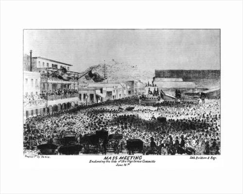 A mass meeting outside Fort Vigilant, Sacramento, California by Britton & Rey